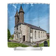 St Michael Church Shower Curtain by Adrian Evans