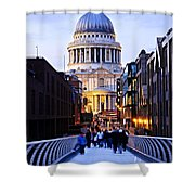 St. Paul's Cathedral London At Dusk Shower Curtain by Elena Elisseeva