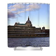 St Paul's Cathedral London Shower Curtain by Terri  Waters