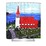 St. Philip's Church Shower Curtain by Barbara Griffin