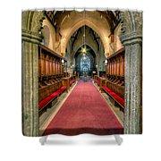 St Twrog Church Shower Curtain by Adrian Evans