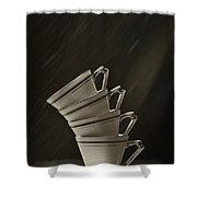 Stack Of Cups Shower Curtain by Amanda Elwell