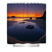 Stacks And Stones Shower Curtain by Mike  Dawson