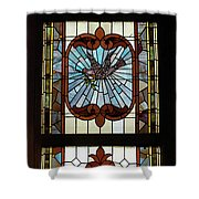 Stained Glass 3 Panel Vertical Composite 03 Shower Curtain by Thomas Woolworth