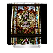 Stained Glass 3 Panel Vertical Composite 06 Shower Curtain by Thomas Woolworth