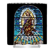Stained Glass Pc 02 Shower Curtain by Thomas Woolworth