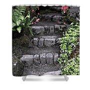 Stairway Path To Gardens Shower Curtain by Athena Mckinzie