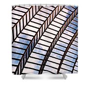 Stairway To Heaven Shower Curtain by Rona Black