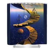 Stairway To Imagination Shower Curtain by Claude McCoy