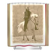 Stallion Strides Shower Curtain by Patricia Keller