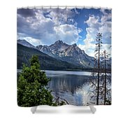 Stanley Lake View Shower Curtain by Robert Bales