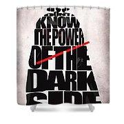 Star Wars Inspired Darth Vader Artwork Shower Curtain by Ayse Deniz