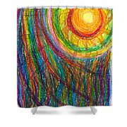 Starburst - The Nebular Dawning Of A New Myth And A New Age Shower Curtain by Daina White