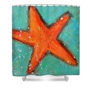 Starfish Shower Curtain by Patricia Awapara