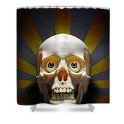 Staring Skull Shower Curtain by Carlos Caetano