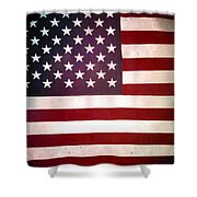 Stars And Stripes Shower Curtain by Les Cunliffe