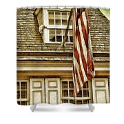 Stars And Stripes Shower Curtain by Mo T