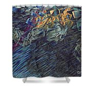 States of Mind    Those Who Go Shower Curtain by Umberto Boccioni