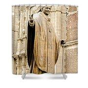 Statue Of Pope John Paul II Shower Curtain by Jess Kraft
