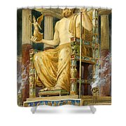 Statue Of Zeus At Oympia Shower Curtain by English School