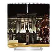 Statues View Of Buckingham Palace Shower Curtain by Terri  Waters