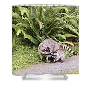 Stay Close And Run Fast Shower Curtain by Kym Backland
