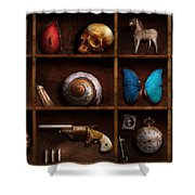 Steampunk - A box of curiosities Shower Curtain by Mike Savad