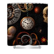 Steampunk - Abstract - The Beginning And End Shower Curtain by Mike Savad