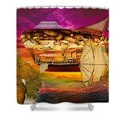 Steampunk - Blimp - Everlasting wonder Shower Curtain by Mike Savad