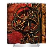 Steampunk - Clockwork Shower Curtain by Mike Savad