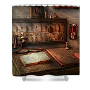 Steampunk - Electrical - My 9 To 5 Job  Shower Curtain by Mike Savad