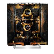 Steampunk - Electrical - The power meter Shower Curtain by Mike Savad