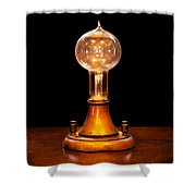 Steampunk - Electricity - Bright Ideas  Shower Curtain by Mike Savad