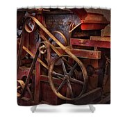 Steampunk - Gear - Belts And Wheels Shower Curtain by Mike Savad