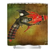 Steampunk - Gun - Electric Raygun Shower Curtain by Paul Ward