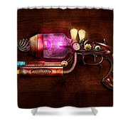 Steampunk - Gun -the Neuralizer Shower Curtain by Mike Savad