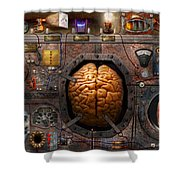 Steampunk - Information overload Shower Curtain by Mike Savad