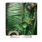 Steampunk - Naval - Plumbing - The Head Shower Curtain by Mike Savad