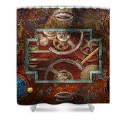 Steampunk - Pandora's box Shower Curtain by Mike Savad