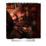 Steampunk - Photonic Experimentation Shower Curtain by Mike Savad