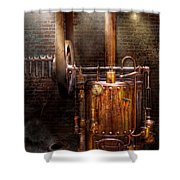 Steampunk - Powering the modern home Shower Curtain by Mike Savad