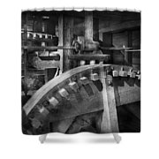 Steampunk - Runs Like Clockwork Shower Curtain by Mike Savad