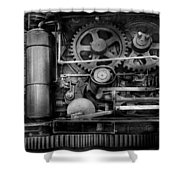 Steampunk - Serious Steel Shower Curtain by Mike Savad