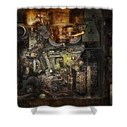 Steampunk - The Turret Computer  Shower Curtain by Mike Savad