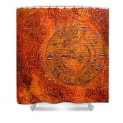 Steampunk Time Shower Curtain by Bellesouth Studio