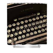 Steampunk - Typewriter - The Age Of Industry Shower Curtain by Paul Ward
