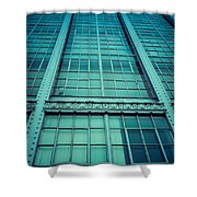 Steel And Glass Shower Curtain by Edward Fielding