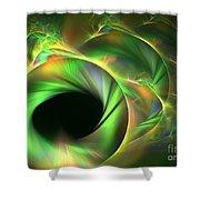 Stellar-wind Bubble Shower Curtain by Kim Sy Ok