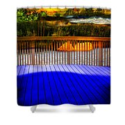 Step Out Shower Curtain by Gunter Nezhoda