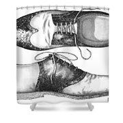 Stepping Out Shower Curtain by Adam Zebediah Joseph